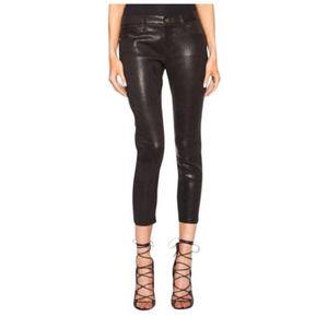 Frame Le Garçon Lamb Leather Pants Black 29